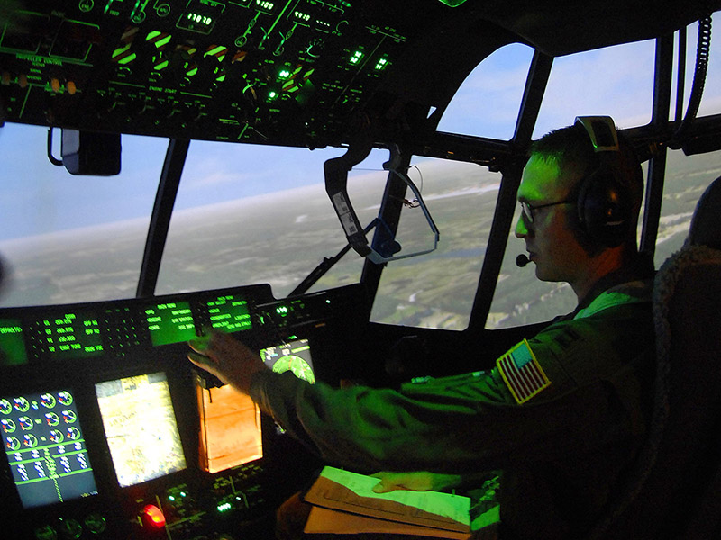 U.S. Air Force C-130 model simulator photo/Tech. Sgt. Larry A. Simmons